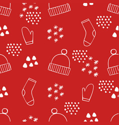 festive christmas seamless pattern background for vector image