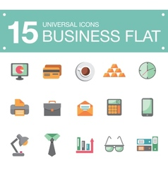 Flat business icons vector image