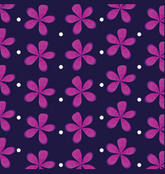 flowers natural icons pattern vector image