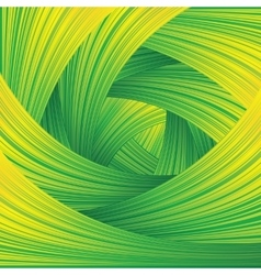 Fresh green swirl background vector