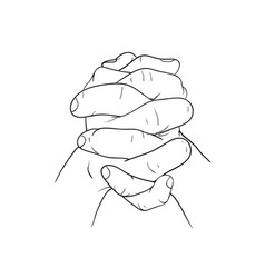 hand hold hand vector image