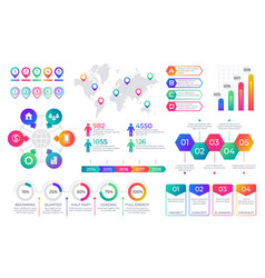 infographic chart timeline graph elements with vector image