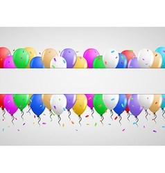 Invitation card with many balloons vector