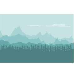 landscape background of mountains with forest vector image