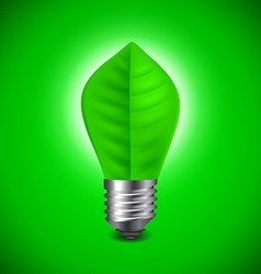 Light bulb from green leave environment concept vector