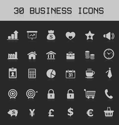 Light business design element icon set vector