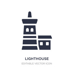 Lighthouse icon on white background simple vector