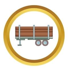 Logging truck icon vector