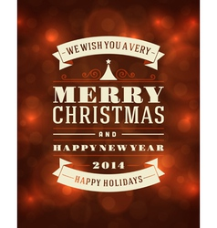 Merry Christmas message and light background vector
