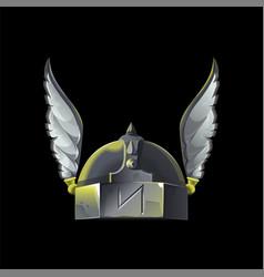 metal armor helmet vector image