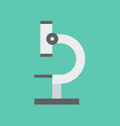 microscope flat design icon vector image