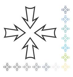Minimize arrows icon vector