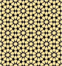Moroccan gold seamless vector image