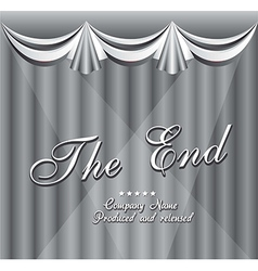 Movie ending screen vector image