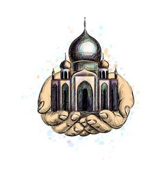 muslim mosque islam vector image
