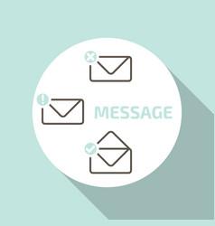 New message icons setmobile popup window vector