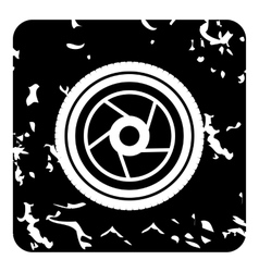 Objective icon grunge style vector