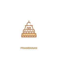 Prambanan concept 2 colored icon simple line vector