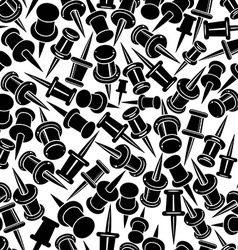 Push pins seamless background monochrome single vector image