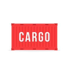 Red sea container with cargo and shadow vector
