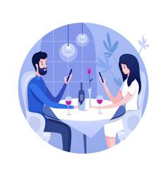 Relationship problem flat vector