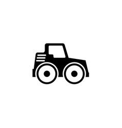 Road roller asphalt compactor paver flat vector