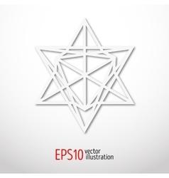 Sacred geometry symbol 3d Alchemy religion vector image