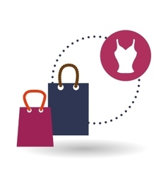 Sales and retail design Shopping icon White vector image
