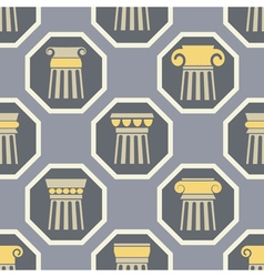 Seamless background with ancient columns vector