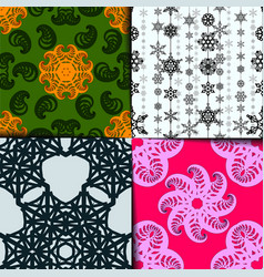 seamless geometric pattern set colorful vector image