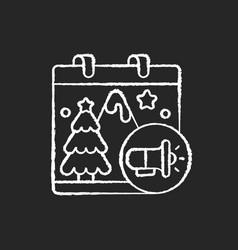seasonal marketing chalk white icon on black vector image