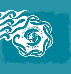 Seattle city flag vector