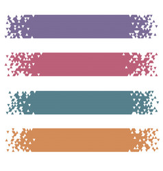 set retro colored modern pixel banners vector image