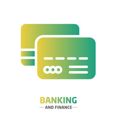 shape design finance icon credit card vector image