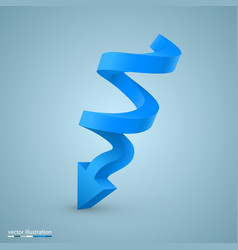 spiral arrow sign art info vector image