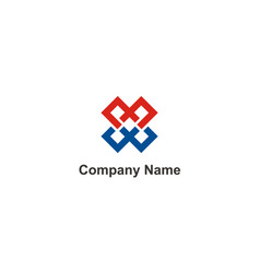 square connection company logo vector image