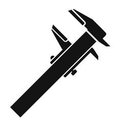 Steel caliper icon simple style vector