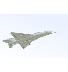 The Mikoyan-Gurevich MiG-21 vector image