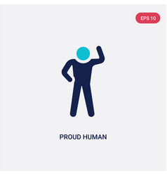 Two color proud human icon from feelings concept vector