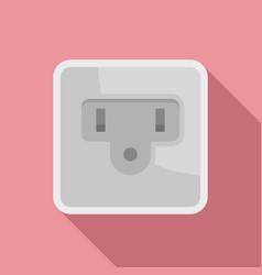 Type b power socket icon flat style vector