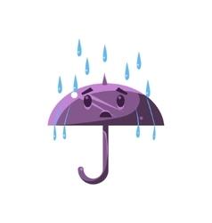 Umbrella Under The Heavy Rain vector