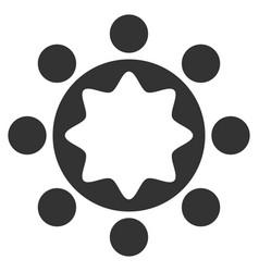 union corporation flat icon vector image