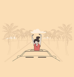 vacation and enjoying traveling concept vector image
