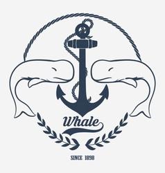 Vintage Whale Logo vector