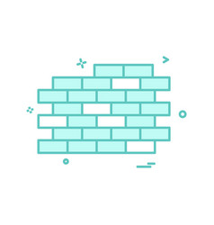 wall icon design vector image