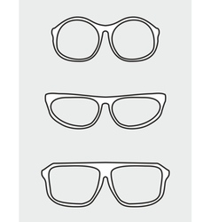White glasses set vector image