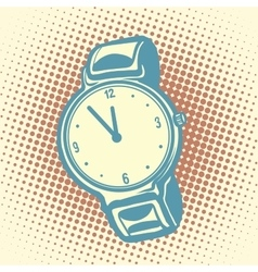 Wrist watch retro vector