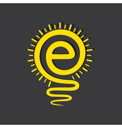 Email sign male a light-bulb vector image vector image