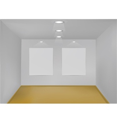 empty gallery room vector image