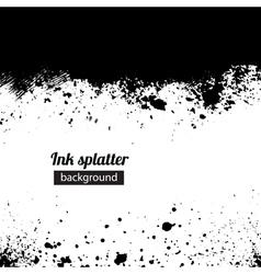 Grunge black ink splattered background vector image vector image